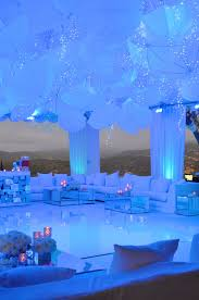 up lit umbrellas over a pool lovely wedding reception wl studios
