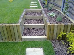 terracing a sloping garden these photos show the finished u2026 flickr