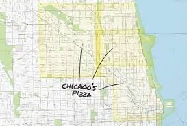 Chicago To Atlanta Map by Chicago Pizza Delivery Map Piece Salernos Pequods And More