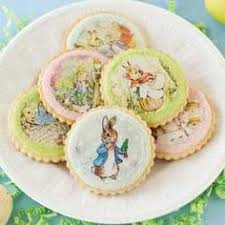 edible wafer paper vintage shabby chic bunny cookie toppers