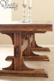 How To Build A Trestle Table Simple DIY Woodworking Project - Woodworking table designs