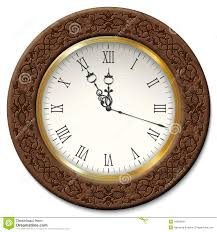 Wooden Wall Clock Vector Vintage Wall Clock Stock Vector Image 44963641