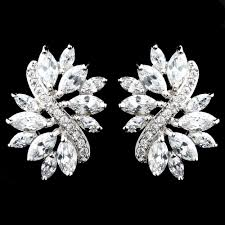 clear earrings antique silver clear cz earrings simply plush