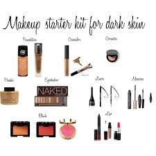 the best makeup for dark skin makeup starter kit for dark skin by novo32 on polyvore