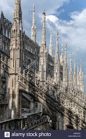 spires and flying buttresses milan cathedral duomo di milano