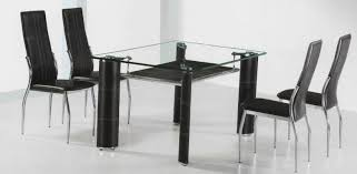 Black Glass Dining Room Sets Kitchen Small Black Glass Table And Chairs Extending Glass Top