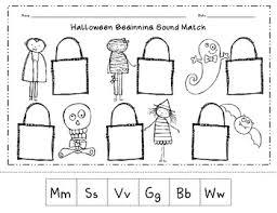 halloween beginning sound match cut u0026 paste worksheet by