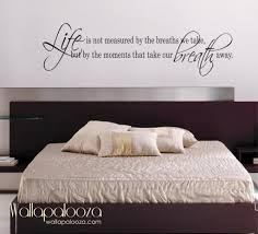 Guest Bedroom Wall Words Wall Decal Quotes For Bedroom Gallery And Life Is Not Measured
