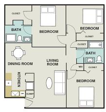 520 Sq Ft 3 Bedroom 2 Bath 1 200 Sq Ft