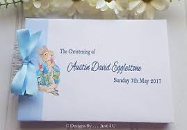 christening photo album personalised baby christening naming day baptism guest book