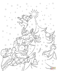 berenstain bears christmas tree coloring free printable