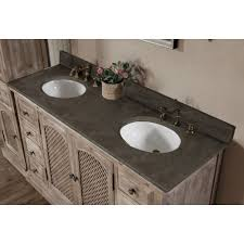 infurniture rustic style matte ash grey limestone top 60 inch