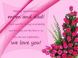 anniversary wishes for parents wishes greetings pictures