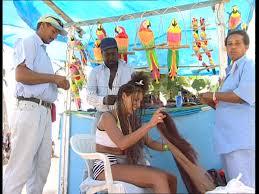 hair braiding got hispanucs people dominican republic sd stock video 448 912 323