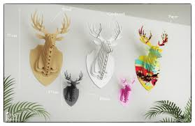 Fake Deer Head Wall Mount Deer Head 3d Puzzle Template Cutting File Faux Taxidermy