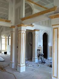 interior columns for homes custom trimmed column hiding an support beam cossentino