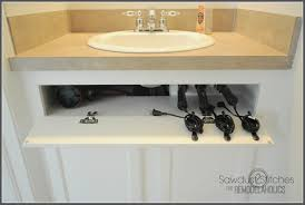 under kitchen sink storage ideas bathroom storage ideas for hair dryer home decor ideas