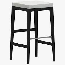 black and white square stool chair 3d model cgtrader