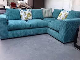 Corner Sofas On Ebay New Zina Sq Arm Fabric Corner Sofa Suite Teal With Pattern