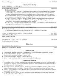 Speech Language Pathology Resume Examples by Fresh Ideas Occupational Therapy Resume Examples 7 Director Of Ot