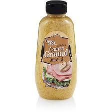 ground mustard great value all coarse ground mustard 12 oz walmart