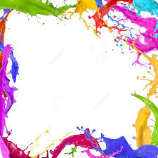 colors splash colorful paint splashing on white background stock photo picture