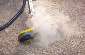 Floor Dry by Using Dry Steam Cleaner To Sanitize Floor Carpet Stock Photo