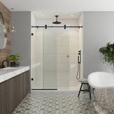 Shower Glass Doors Contractors Wardrobe Model 7800 60 In X 76 In Frameless Sliding