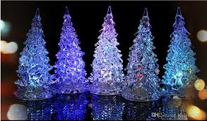 miniature christmas tree lights 2018 christmas tree led lights xmas decoration acrylic crystal