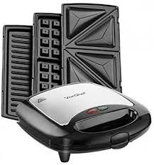 Sandwich Panini Maker Waffle Iron and Grill With Removable 3 In 1