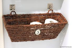 What To Put In Wedding Bathroom Basket Window Box Bathroom Storage Perfect For A Small Bathroom Our