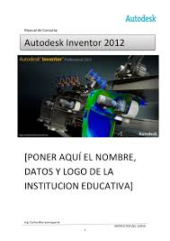 manual autodesk inventor 2012