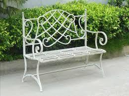 Metal Garden Benches Australia White Metal Bench White Garden Bench Wrought Iron Image On