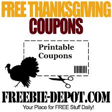 free thanksgiving coupons printable freebie depot