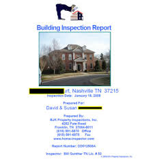 sample house inspection report sample reports bjk property inspections