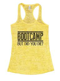 amazon com womens bootcamp but did you die gym burnout tank top