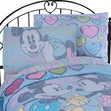 Mickey And Minnie Mouse Bedding Mickey Minnie Mouse Bed Sheet Set Disney Vintage Bedding