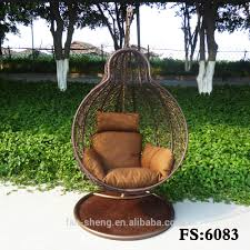 Childrens Swing Chair Country Style Multicolor Pe Rattan Wicker Hanging Basket Chair For