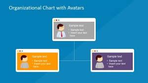 powerpoint organizational chart with avatars slidemodel