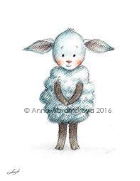 anna abramskaya sheep printable art nursery art