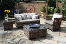 Bamboo Patio Set by Furniture Sunflower Vase Over Bamboo Plaited Stool Beside Patio