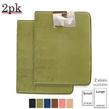 17x24 Bath Mat Memory Foam Bathrug 2 Pack U2013 Sage Green Bath Mat And Shower Rug