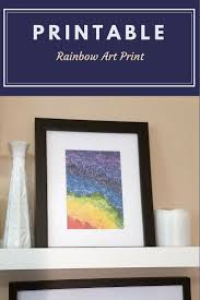 free printable art home decor easy wall decor printable rainbow art print home decor free