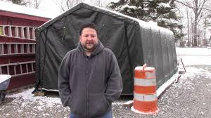 10x20 Garage Review Of Shelterlogic 10 X 20 Portable Garage From Tsc Youtube