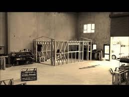 A Frame House Plans With Garage Steel Frame Single Garage Youtube