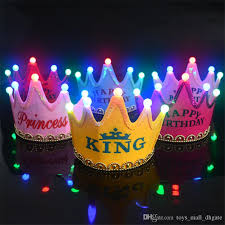 glow in the birthday party birthday party led hat happy birthday princess king