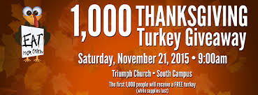 triumph church turkey giveaway nov 21