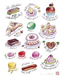 art for kitchen food art french pastries collection 8x10 limited