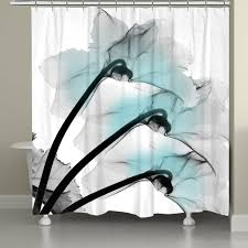 Orchid Shower Curtain Blue Orchid X Ray Flowers Shower Curtain U2013 Laural Home