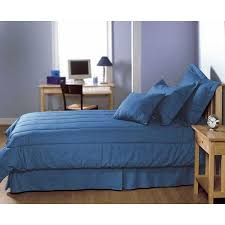 Solid Colored Comforters Mayfield Manufacturing 200 Thread Count Solid Color Blue Jean